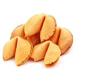 Sky | Premium Bulk Fortune Cookies Individually Wrapped, Fortune Cookie Rounds, Fresh Cookies, Healthy Fortune Cookies Bulk, Chinese Fortune Cookies, Chinese New Year Snacks, Individually Packed Cookies, Real Fortune (Vanilla, 100 Cookies)