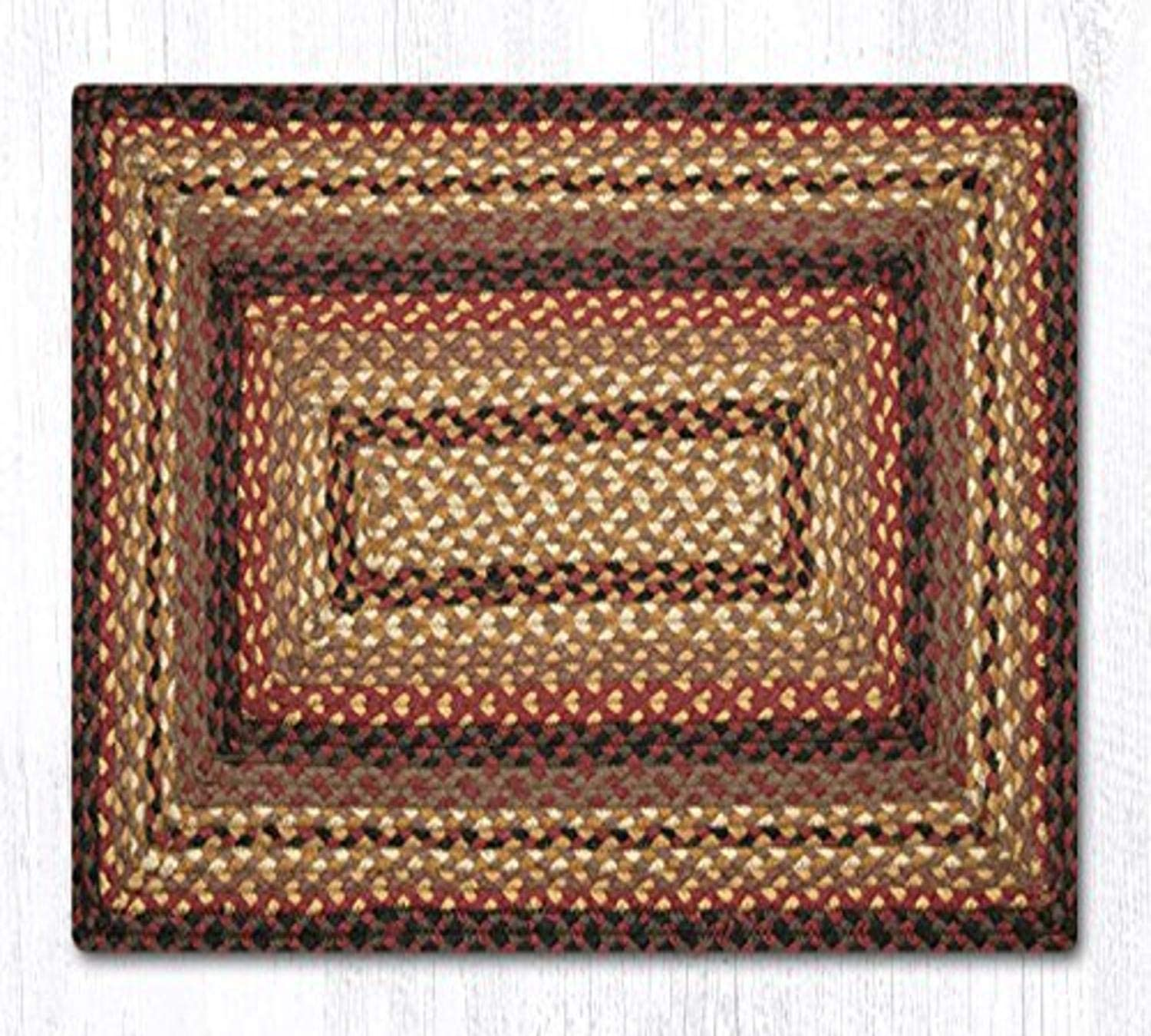 Earth Direct sale of manufacturer lowest price Rugs Rug 27x45 Black Cream Oblong Chocolate Cherry
