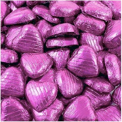 Feuille de rose chocolat coeurs - paquet en vrac (100 pcs)