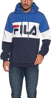 Fila Felpa Cappuccio Uomo Night Blocked Blu cod 687001-A820