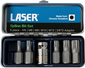 "Laser 0592 Spline Bit Set - 3/8""d 6st"