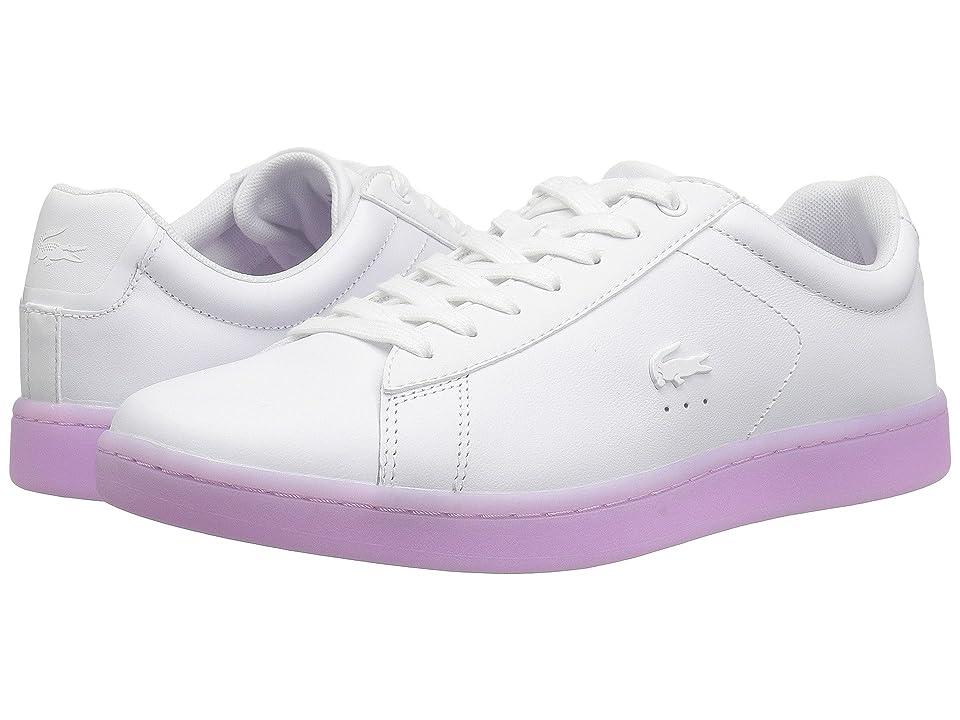 Lacoste Carnaby Evo 118 3 (White/Light Purple) Women