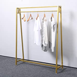 MBQQ Moden Metal Clothes Rack with Clothing Hanging Rack Organizer for Laundry Drying Rack Display Racks Garment Racks,Golden