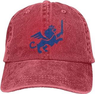 Sombrero de béisbol del equipo de fútbol 3 vaquero sombrero de béisbol para papá, rojo