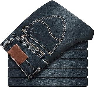 Pantalones Pantalones Vaqueros Rectos Slim Fit Juvenil Casual Stretch Moda Clásica Retro Azul Gris Streetwear Hip-Hop Pant...