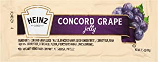 Heinz Concord Grape Jelly Packets Single Serve (0.05 oz Packet, Pack of 200)