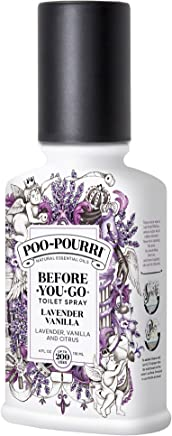 Poo-Pourri Before-You-Go Toilet Spray 4 oz Bottle, Lavender Vanilla Scent