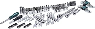 SATA 151-Piece SAE and Metric Mechanic's Tool Set, 1/4-, 3/8- and 1/2-Inch Drive, with Ratchets, Sockets, Bits, Hex Keys and More - ST09514U