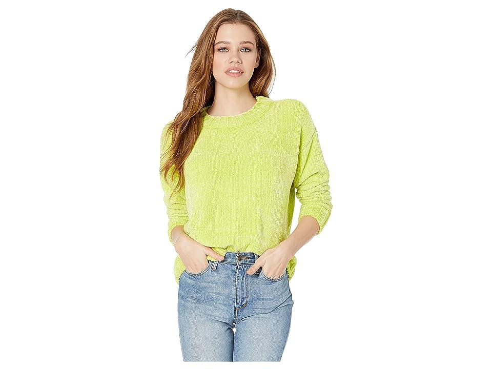 Sanctuary Chenille Pullover Sweater (Acid Green) Women