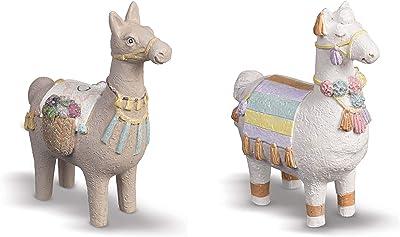 Grasslands Road Fancy Fantasy Llama Figurines Set of 2
