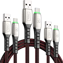Micro USB Cable Android Charger, INIU 3 Pack (1.6+3.3+6.6ft) 3.1A QC Fast Charging Micro Phone Charger, Nylon Data Cell for Samsung S7 S6 S5, HTC, Kindle, Xbox One, PS4, Tablet, MP4, Speaker, etc.