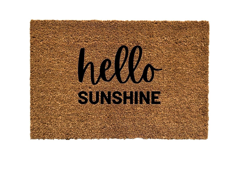 Hello Sunshine Door mat Doormat OFFicial Classic site Welcome Cu