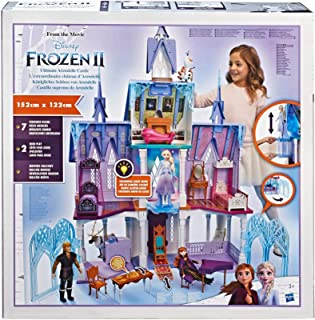 Disney FROZEN Ultimate Arendelle Castle Playset Inspired By The 2 Movie, 5 ft. Tall with Lights, Moving Balcony, and 7 Roo...
