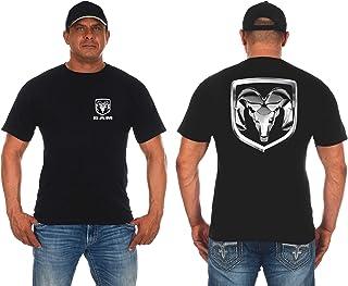 JH Design Men's Dodge Ram Logo T-Shirt Short Sleeve Crew Neck Shirt