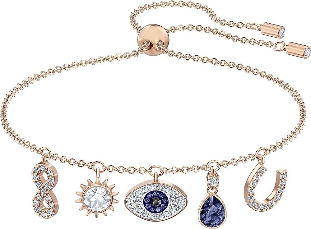 Swarovski braccialetto symbolic placcato oro rosa 5497668