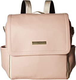 Matte Leatherette Boxy Backpack
