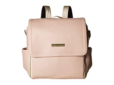 petunia pickle bottom Matte Leatherette Boxy Backpack (Blush Leatherette) Diaper Bags