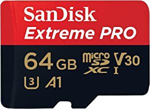 SanDisk Extreme PRO microSDXC Memory Card Plus SD Adapter up to 100 MB/s, Class 10, U3, V30, A1 - 64 GB