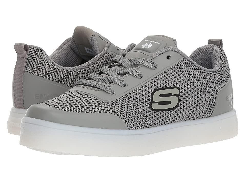 SKECHERS KIDS Energy 90609L Lights (Little Kid/Big Kid) (Grey) Boy