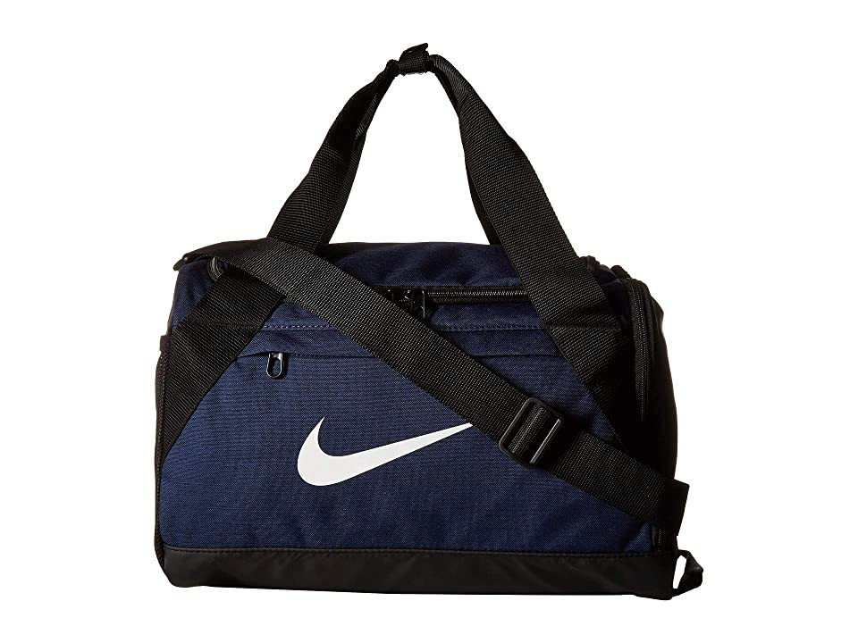 c481086b677d Nike Brasilia Extra Small Training Duffel Bag (Midnight Navy Black White)  Duffel