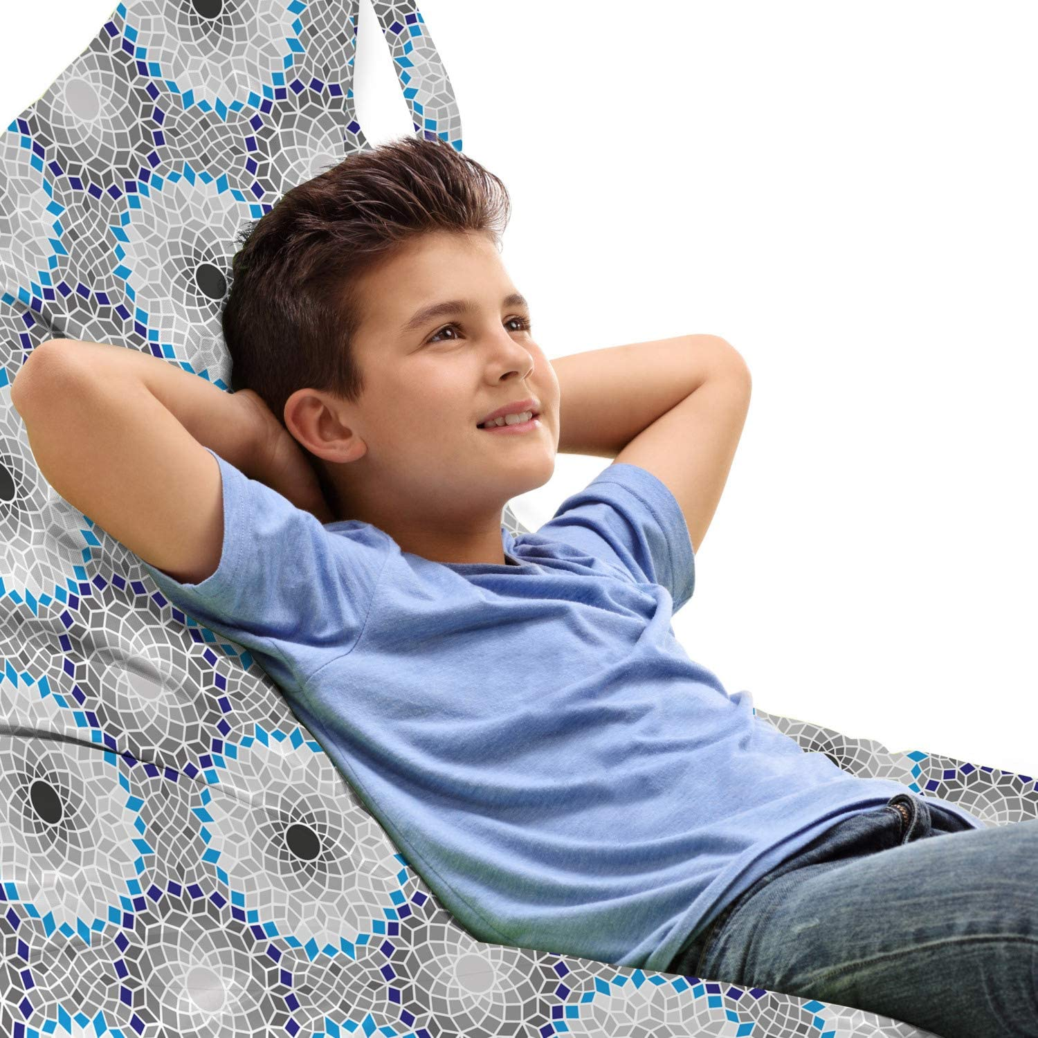 Limited Special Price Ambesonne Mosaic Lounger Chair Bag Styl Max 76% OFF Art Traditional Ceramic