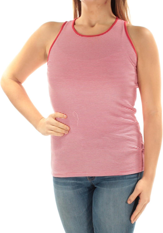 LAUREN RALPH LAUREN Women's Striped Sleeveless Knit Shirt Tank Top