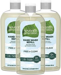 هفتم نسل شستشوی دست شستشو، رایگان و تمیز unscented، 24 اونس، 3 بسته