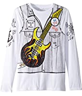 Stella McCartney Kids - Barley Guitar Rocker Long Sleeve Tee (Toddler/Little Kids/Big Kids)