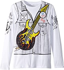 Barley Guitar Rocker Long Sleeve Tee (Toddler/Little Kids/Big Kids)
