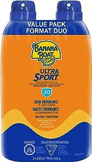 Banana Boat Ultra Sport Sunscreen Spray, NEW FORMULA, Spf 30, Twin Pack, 2x226g