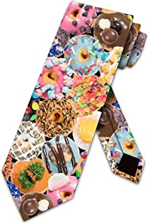 Donut Ties Mens Candy Doughnut Necktie by Three Rooker