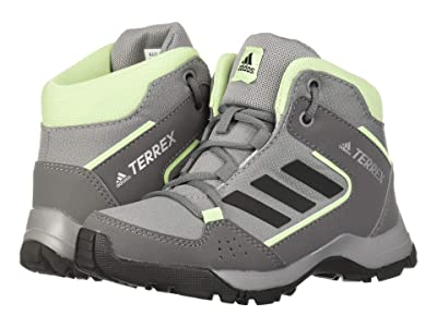adidas Outdoor Kids Hyperhiker (Little Kid/Big Kid) (Grey Three/Black/Glow Green) Kids Shoes
