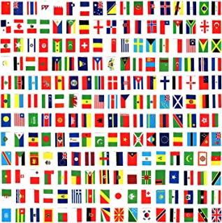 AMAPON 200 Countries Flags,164 Feet World Flags,Decorations International Flags,World Party Decoration,World Cup Olympics Flags,String Flags,Bunting Banner Bar-Sports Clubs-Grand Opening