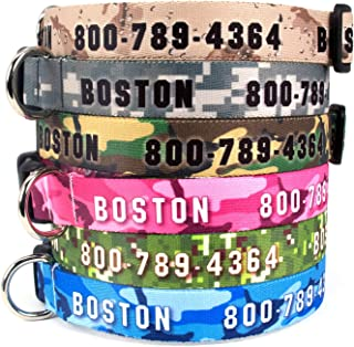 Buttonsmith Custom Dog Collar - Fadeproof Permanently Bonded Printing, Military Grade Rustproof Buckle, Resistant to Odors & Mildew, Choice of 5 Sizes, Made in The USA