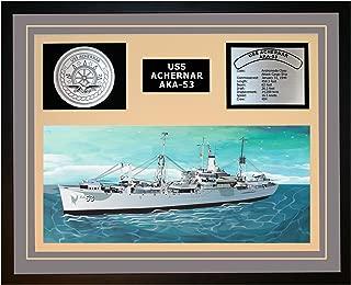 Navy Emporium USS ACHERNAR AKA 53 Framed Navy Ship Display Grey
