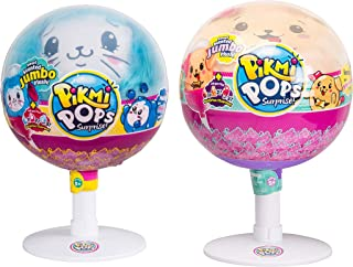 Pikmi Pops Surprise Scented Jumbo Plush 2-Pack Collection, Bento The Stretchy Dog & Huddy The Fluffy Bunny