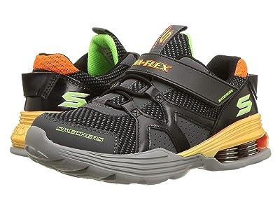 SKECHERS KIDS Gore Strap Sneaker 97990L (Little Kid/Big Kid) (Charcoal/Orange) Boy