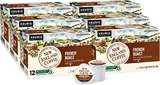 New England Coffee French Roast, Single Serve Coffee K Cup Pods, Dark Roast, 12Count (Pack of 6)