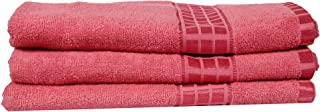 Eurospa Set of 3 Cotton Bath Towel Pink