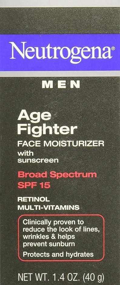 冗長バトル取り替える[海外直送品] Neutrogena Men Age Fighter Face Moisturizer with sunscreen SPF 15 1.4oz.(40g) 男性用ニュートロジーナ メン エイジ ファイター フェイス モイスチャライザー