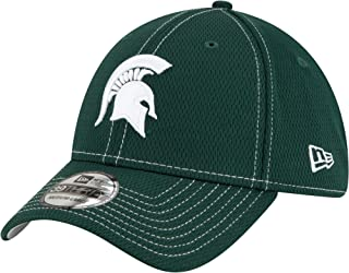 New Era NCAA Michigan State University MSU Spartans MI 39THIRTY Sideline Road Stretch Fit Hat, Dark Green Cap (S/M)