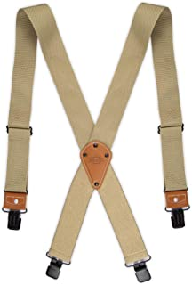 Industrial Strength Suspenders - Men's Wide Adjustable Thick Strap Clips for Work Heavy Duty Pants