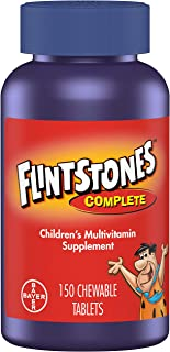 Flintstones Vitamins Chewable Kids Vitamins, Complete Multivitamin for Kids and Toddlers with Iron, Calcium, Vitamin C, Vi...