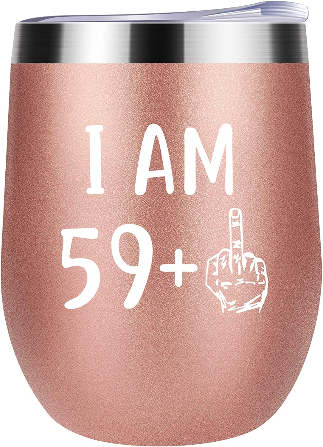 60th Birthday Gifts For Women Wine 59 Middle Finge Tumbler Nippon Max 64% OFF regular agency + One