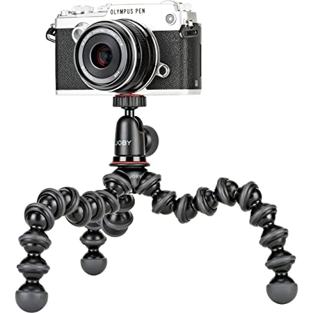 Joby JB01503 GorillaPod 1K Kit. Compact Tripod 1K Stand and Ballhead 1K for Compact Mirrorless Cameras or Devices up to 1k (2.2lbs). Black/Charcoal.