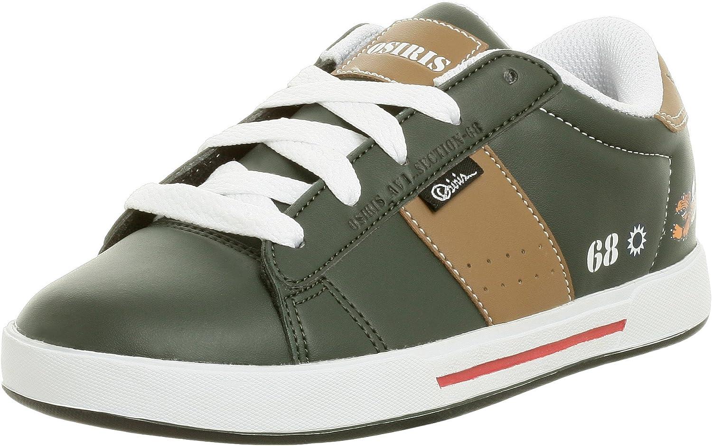 Osiris Little Kid/Big Kid Serve Bomber Sneaker,Dark Green/Tan,1 M US Little Kid