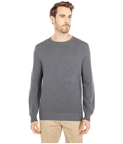 J.Crew Cotton-Cashmere Pique Crewneck Sweater (Heather Ash) Men