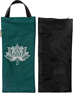 Yoga Sand Bag - Cotton Unfilled for Yoga Weights and Resistance Training, Lotus Design