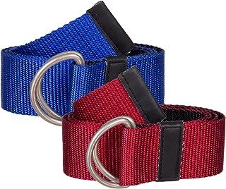 Sunny Belt 女孩 3.81 厘米宽 2 条装网带金属双环扣(均码*大为 86.36 厘米)