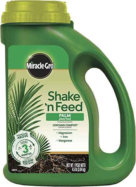 Miracle Gro 3002910 Shake N Feed Continuous Release Palm Plant Food 4 5 LB Brown A